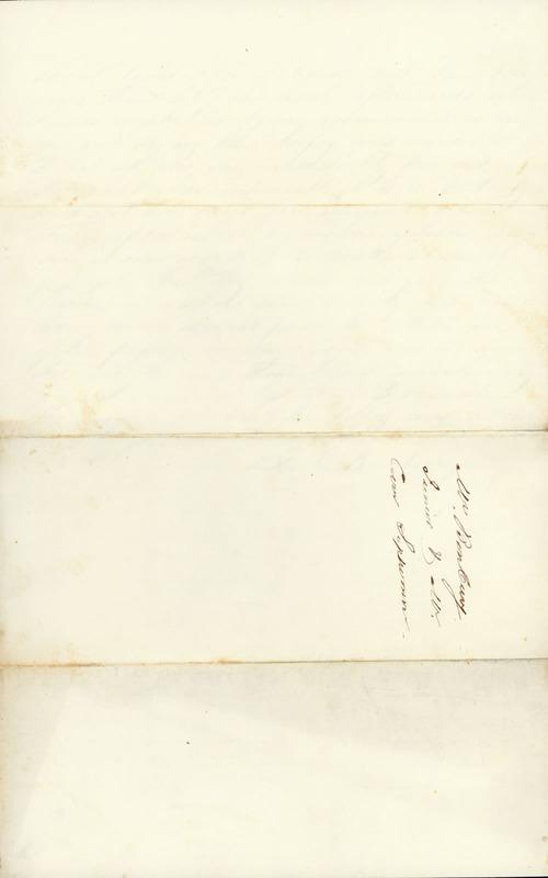 August 1856. Lemuel Benbury's account.