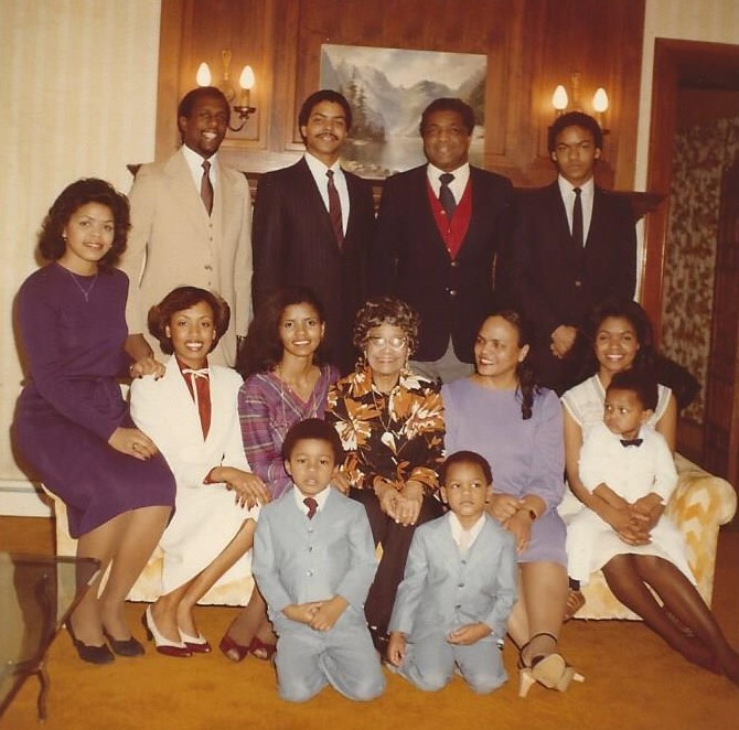 Prudence Curry with her family