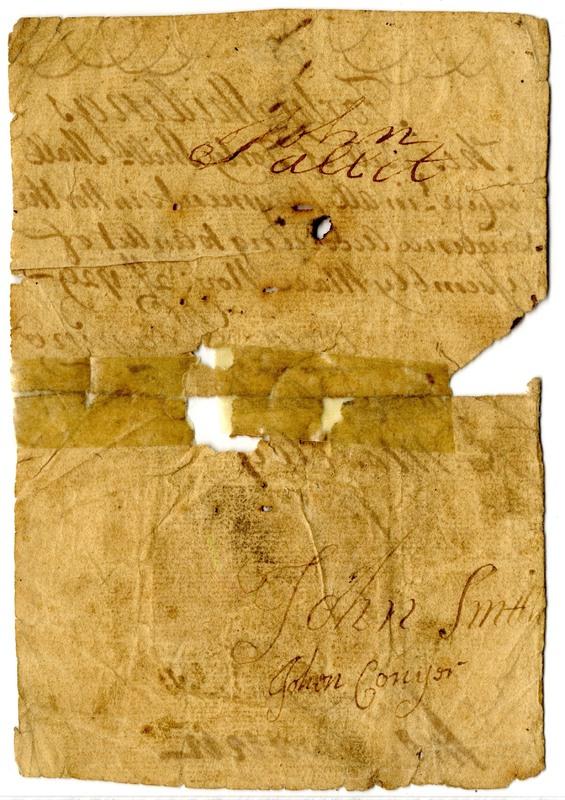 North Carolina 1729 paper money (back)