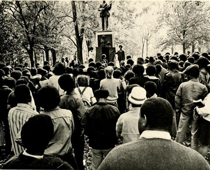 James Cates memorial demonstration, 19 November 1971