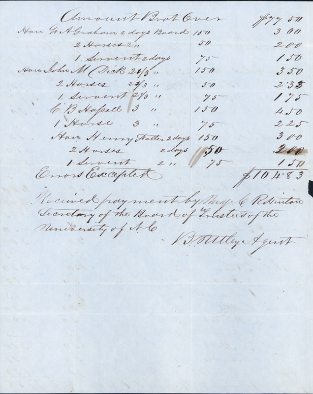 "12 June 1849. ""Trustees in account with Ann S. Hillyard."""