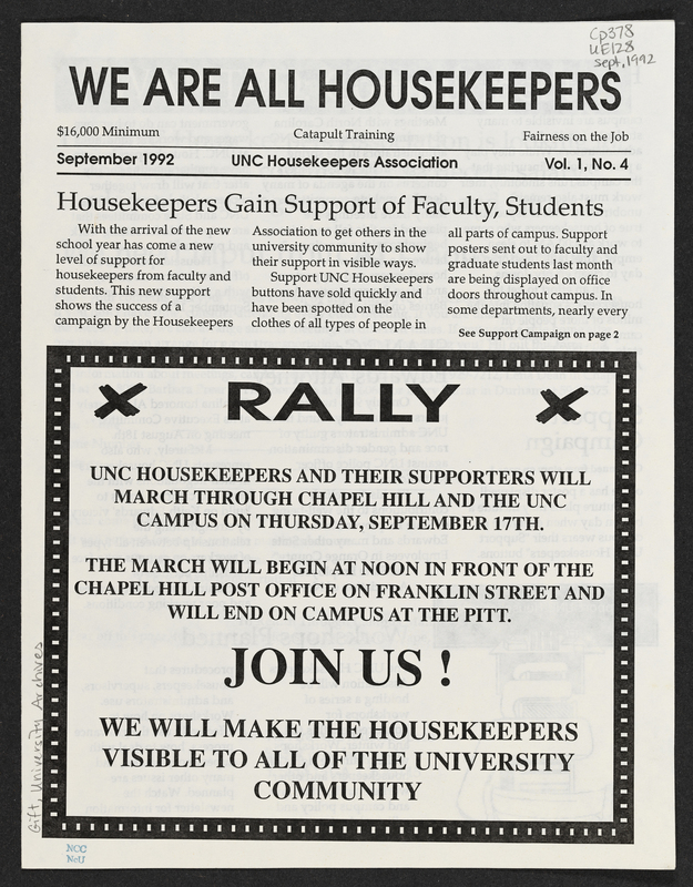 Cover of We Are All Housekeepers, 1992