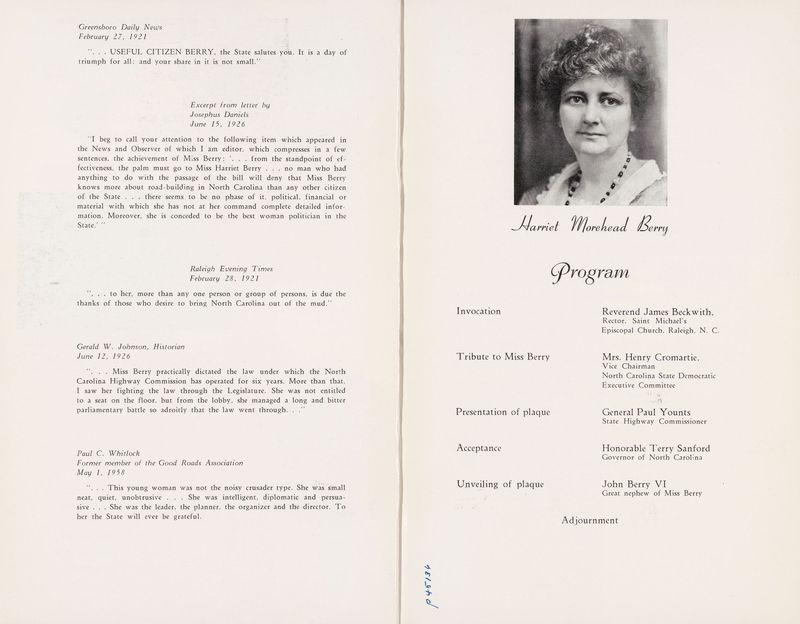 Harriet Morehead Berry program