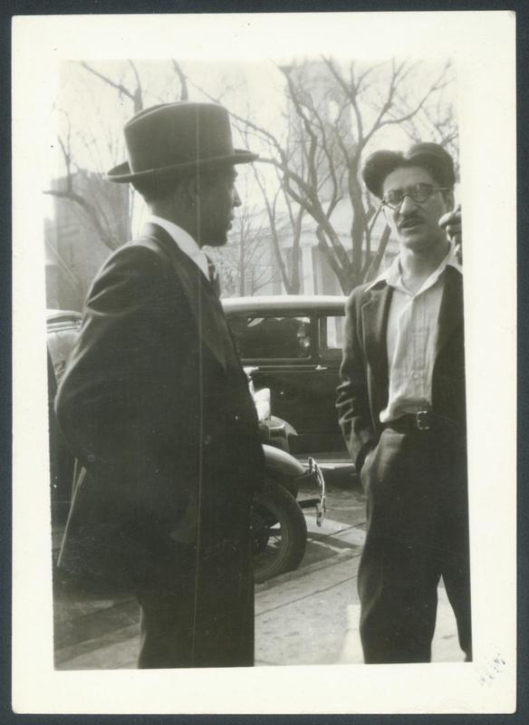 Photograph, Langston Hughes (left) and Contempo co-publisher Anthony Buttitta