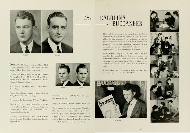 Photograph of Carolina Buccaneer staff