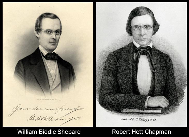 Drawing of William B. Shepard, lithograph of Robert Hett Chapman