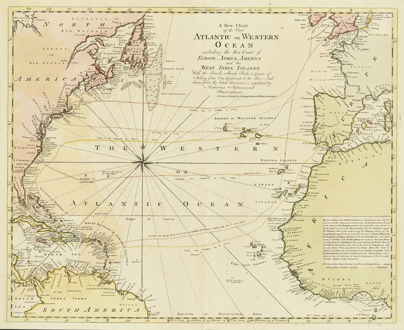 A new chart of the vast Atlantic or Western Ocean