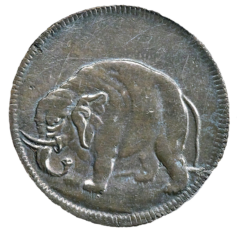 genuine Carolina elephant token (front)