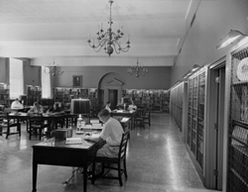 Wilson Library Reading Room, late 1950s