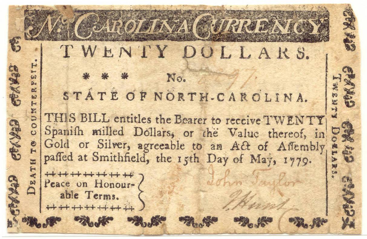 1779 paper money
