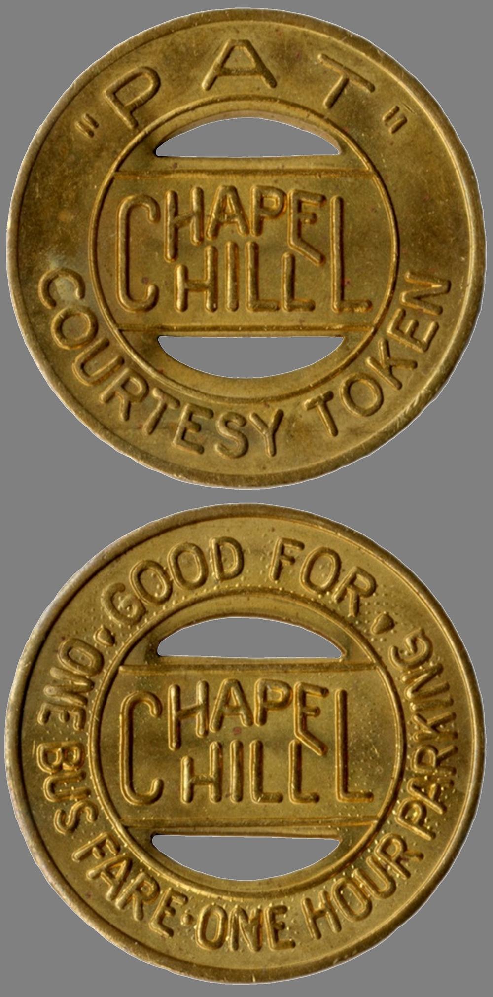 Chapel Hill, North Carolina transit  token ca 2000