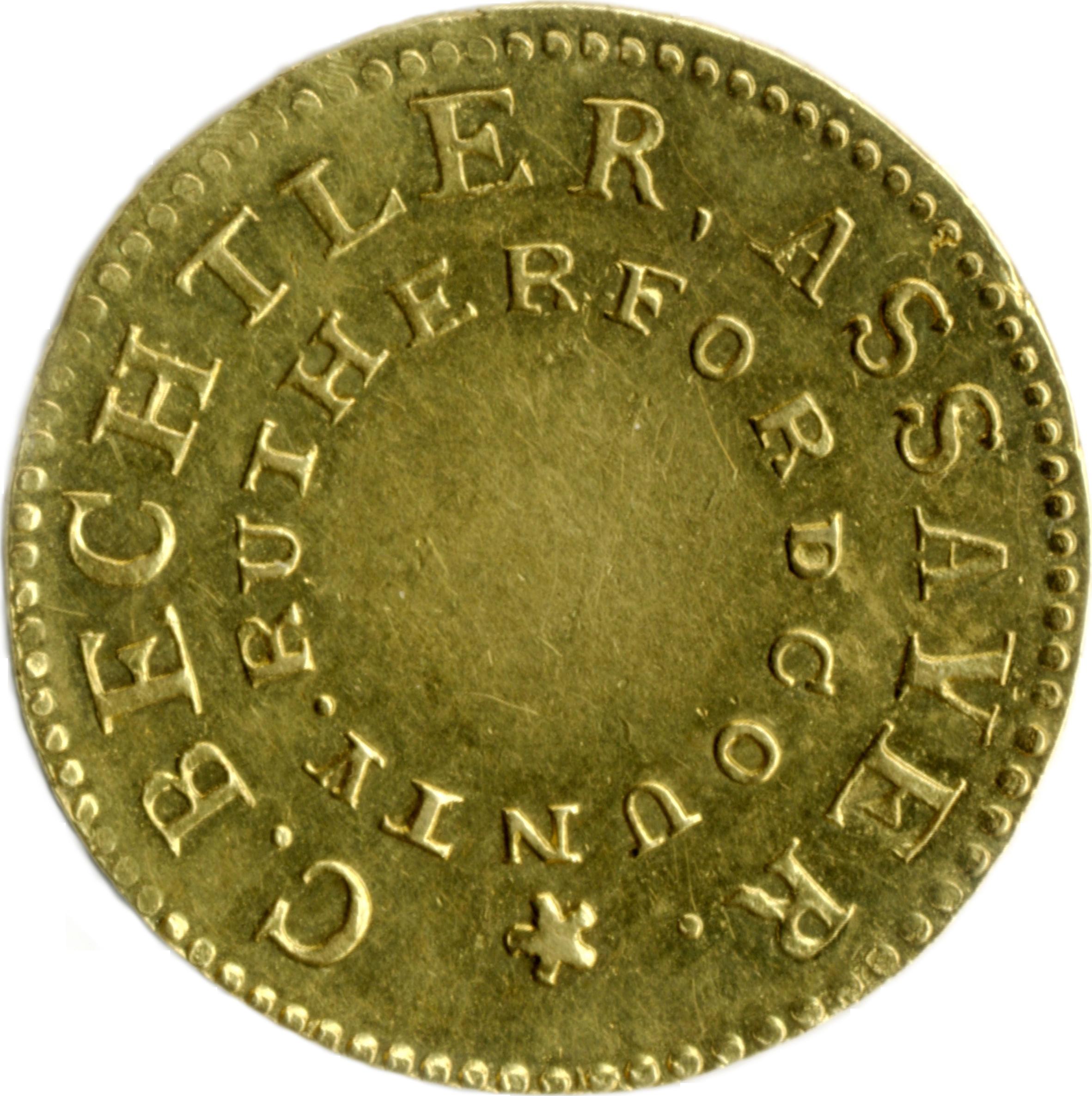 Christopher Bechtler gold half-eagle $5, 1831