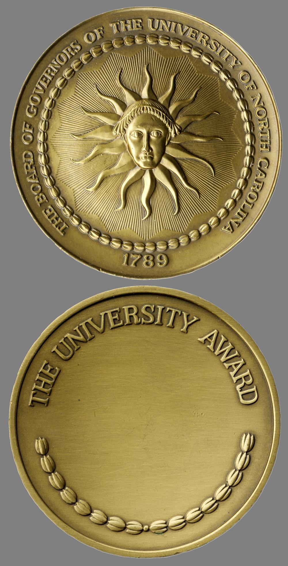 The University Award medal, 1987