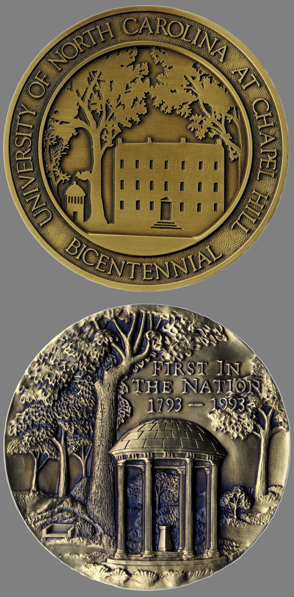 University of North Carolina Bicentennial medal, 1993