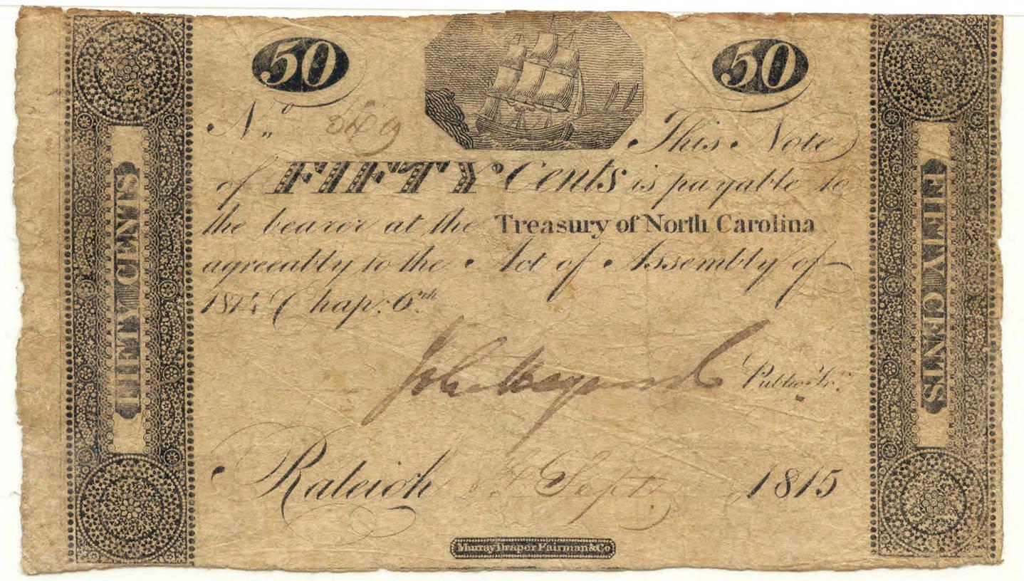 North Carolina treasury note, 1815