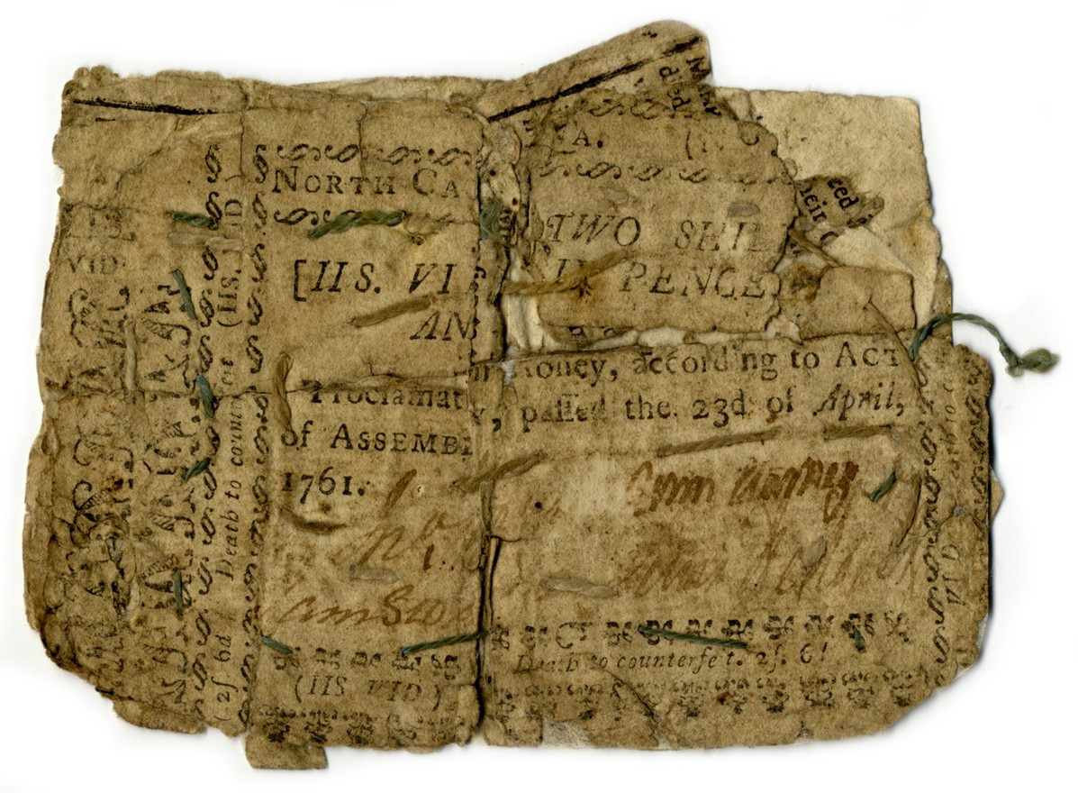 North Carolina paper money, 2 shillings 6 pence, 1761
