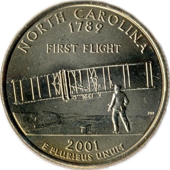 North Carolina state quarter, 2001
