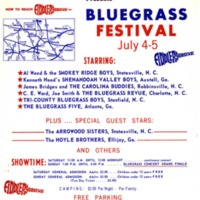 Bluegrass Festival Poster, Fiddler's Grove, 1970