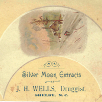 Trade card for J. H. Wells, Druggist