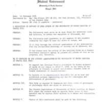 Resolution in Support of Free Speech from Student Government