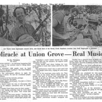 Miracle at Union Grove - Real Music