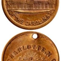 Women's Exposition of Charlotte medal, 1897