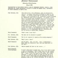 Transcript of events surrounding Frank Wilkinson's speech
