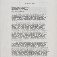 letter Susie Sharp to Sam Ervin Aug 28, 1970