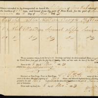 Manifest of slaves, 1823