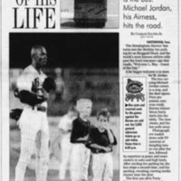 News & Observer Apr 17, 1994 - Michael Jordan in baseball