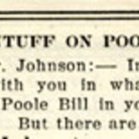 """Dr. Pentuff on Poole Bill"""