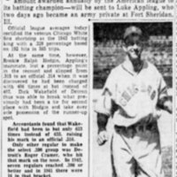 Luke Appling in Charlotte Observer December 21, 1943