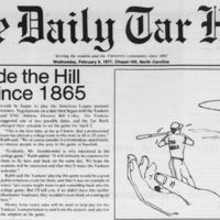 Yanks to Invade the Hill; detail from Daily Tar Heel Feb 9, 1977