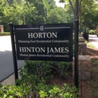 Sign for George Moses Horton Residence Hall