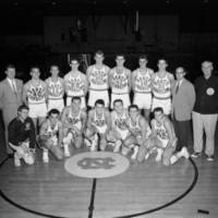 The 1956-1957 University of North Carolina Team. Preaseason team probably October 1956. Photograph appears in 1957 Yackety Yack.