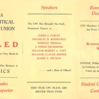 "Pamphlet, ""CPU Does Not Stand for Communist Party of the University…,"""