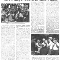 Ole Time Fiddlers & Bluegrass Festival Set for May 27-29,1994 at Fiddler's Grove