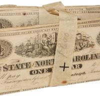 Original bundle of NC Civil War treasury notes