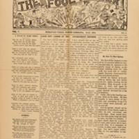front page from The Fool-Killer by James Larkin Pearson (1879-1981)