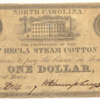 Mt. Hecla Steam Cotton Mill $1