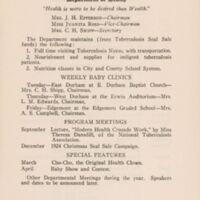 Woman's Club of Durham, North Carolina. Annual Program. 1924/1925.