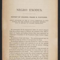 The Negro Exodus Report
