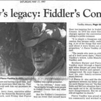 Van Hoy's Legacy: Fiddler's Convention