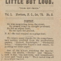 front cover of Little But Loud by Harry Hamleton Disoway (1859-1934) and Thomas C. Howard (1860-1911), New Bern, N.C.