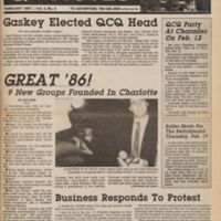 front cover of Q-notes by Jim Yarbrough, Charlotte, N.C.