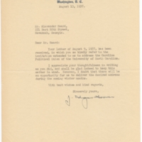 Letter, J. Edgar Hoover to Alexander Heard