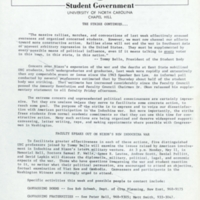 "Student Government press release, ""The Strike Continues"""