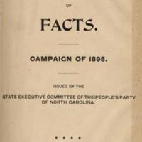 People's Party Hand-Book of Facts. Campaign of 1898