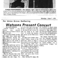Watsons Present Concert