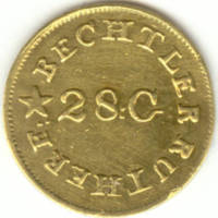 Bechtler gold dollar, 1830s